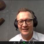 Paweł Kozłowski während des Online-Praxis-Treffs